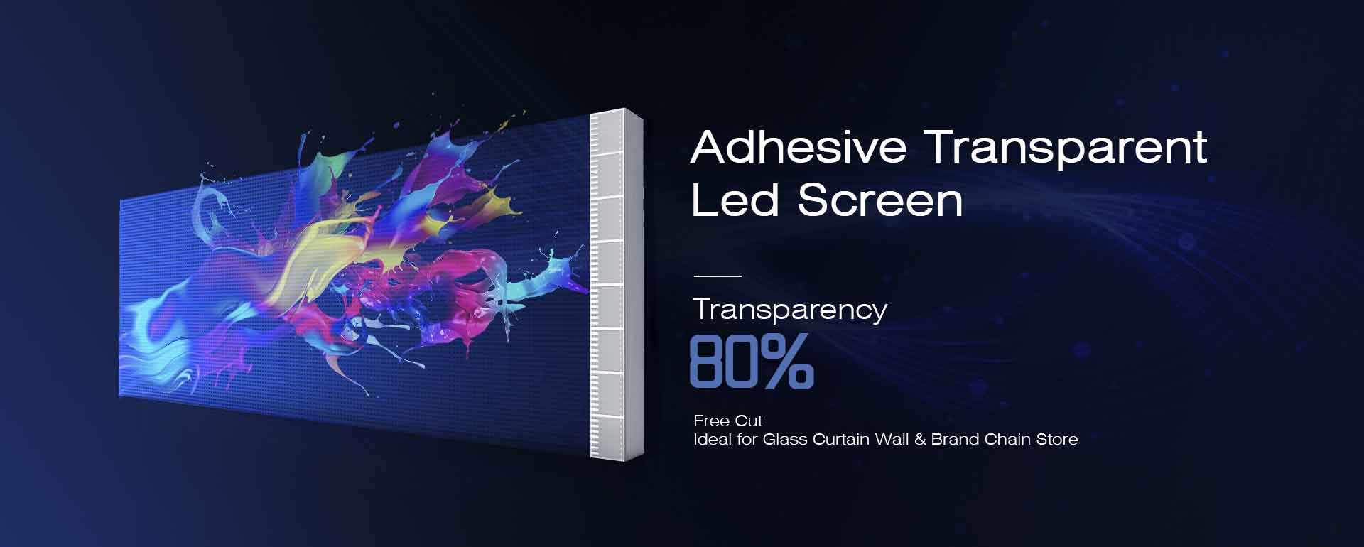 Adhesive Led Transparent Screen