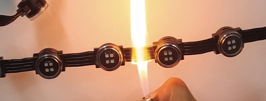 Fireproof Mesh Display