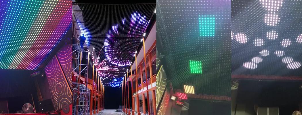 Awning LED mesh curtains