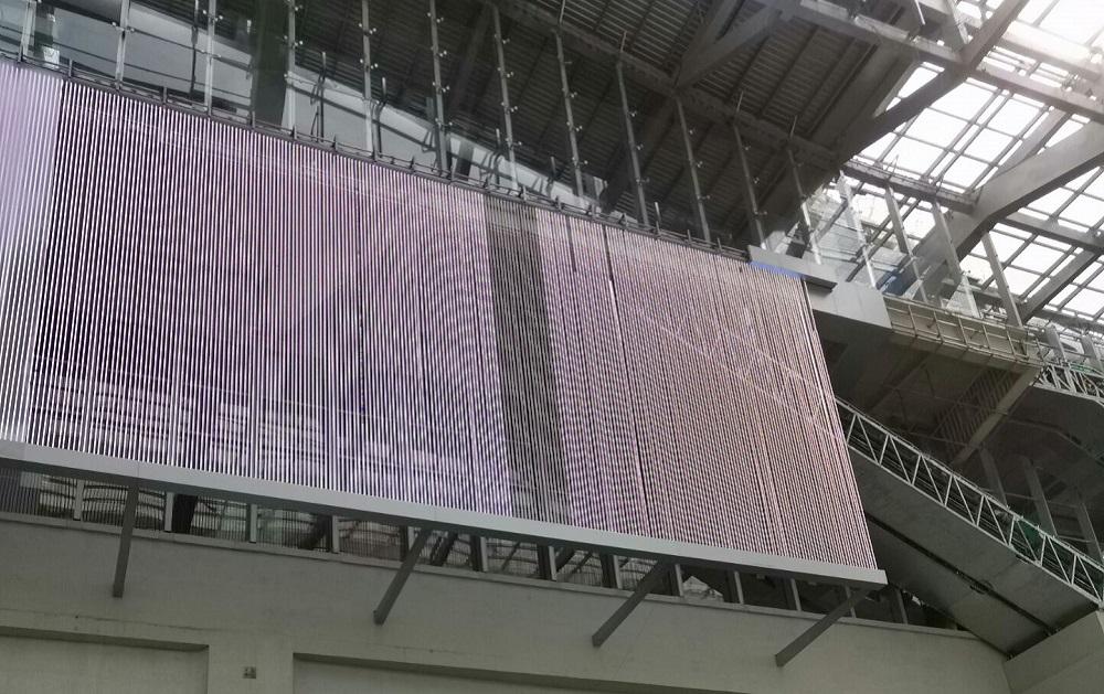 transparent led grid screen