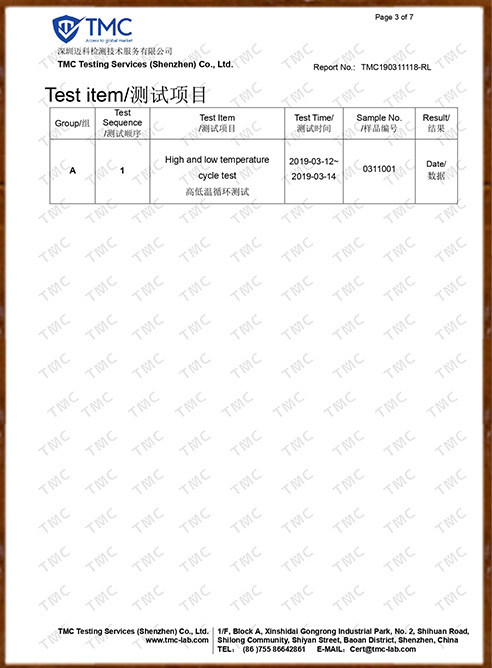 Pull Test Report