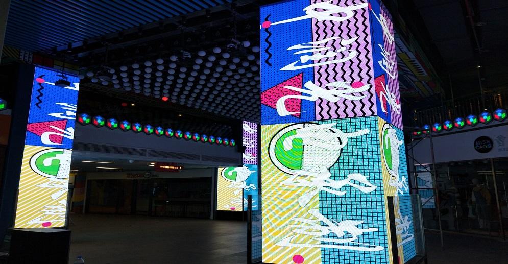 Popular P3 Led Cube Display to Take Photo