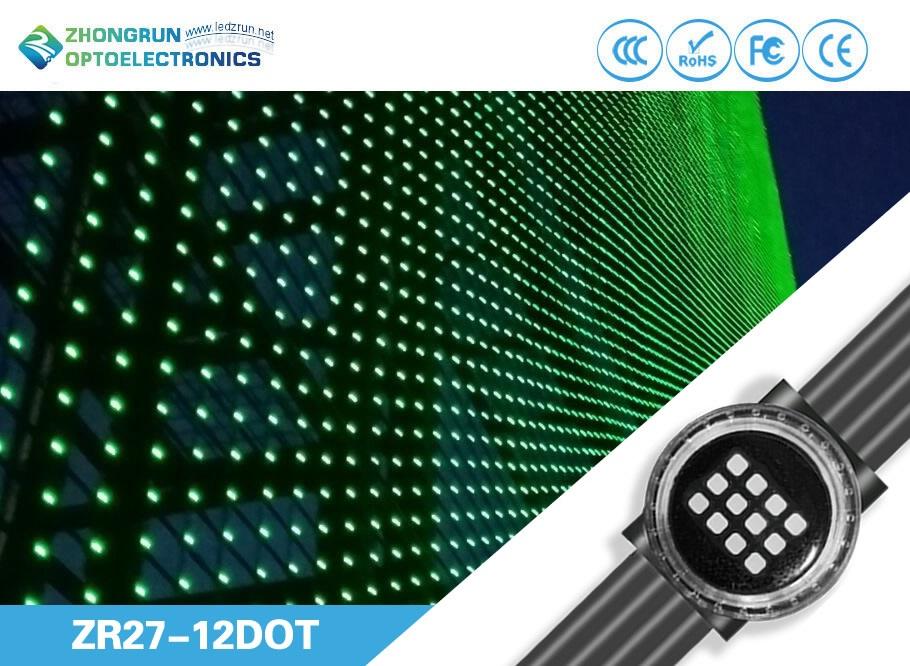 ZR27 12Dot P150 Transparent LED Sky Ceiling Pixel Display Screen