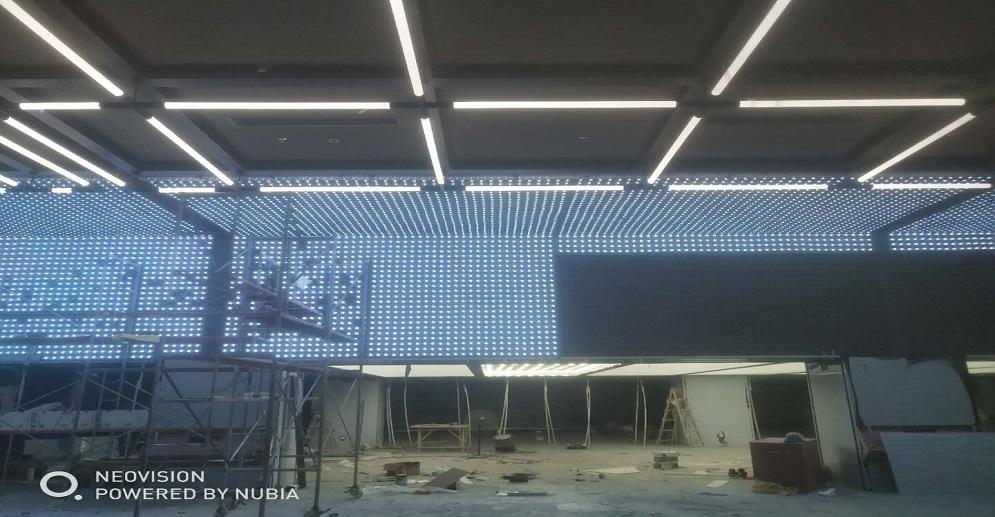 P100 Led Ceiling Screen in Laboratory Showroom