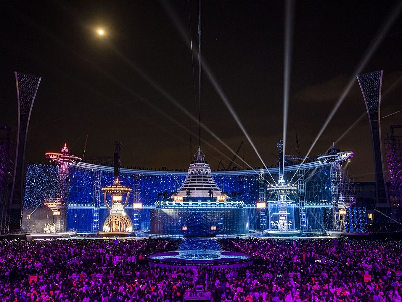 3000sqm P55 Led Mesh Screen in Hunan TV New Year's Eve Party