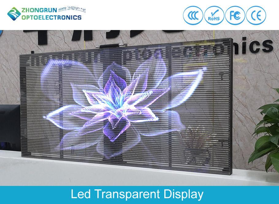 Indoor Led Transparent Mesh Video Display