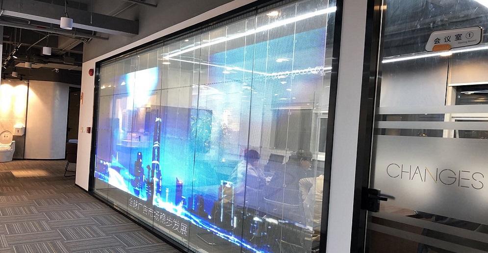 25sqm P5-10 Adhesive Led Transparent Screen
