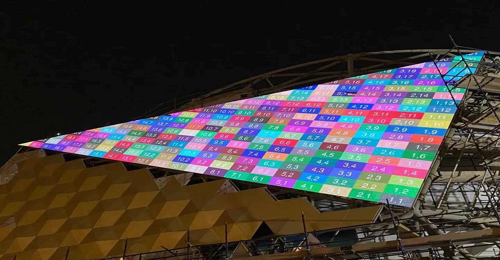 2020 World Expo Kuwait Pavilion 400sqm P10.4 Outdoor Led Transparent Screen Project